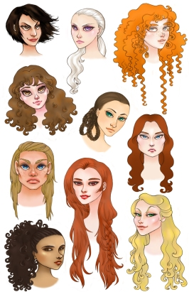 ASOIAF Ladies | Digital, 2012