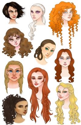 ASOIAF Ladies   Digital, 2012