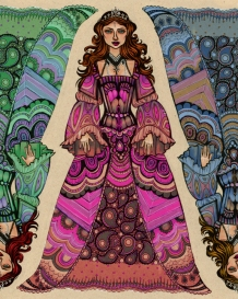 Paisley Princess | Ink, Pencil & Digital, 2013