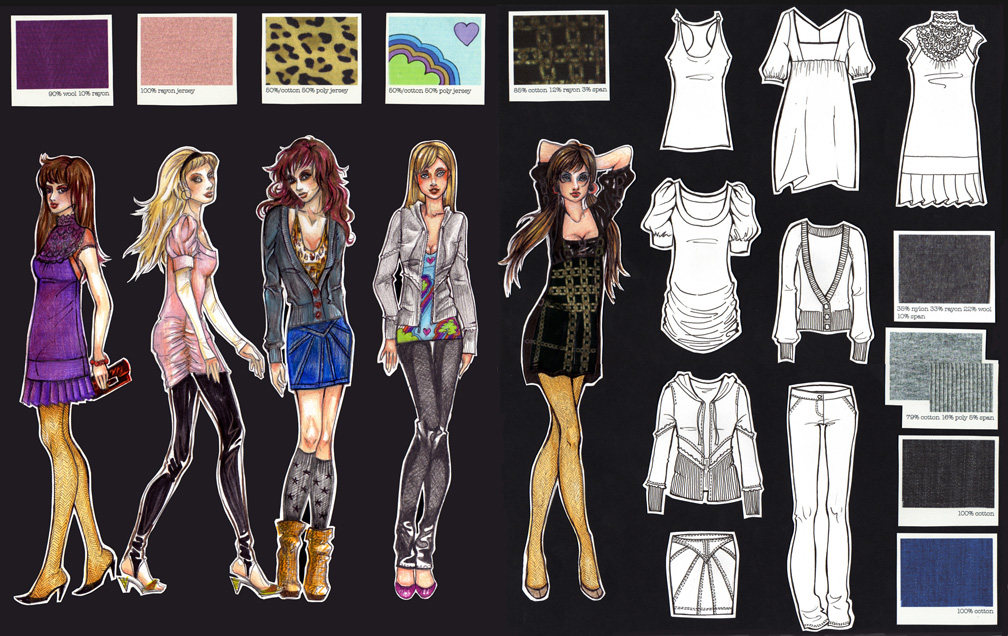 Fashion Sketches And Flats Courtney Trowbridge