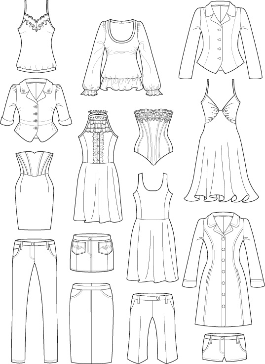 Technical drawings courtney trowbridge for Clothing templates for illustrator