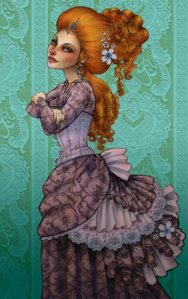 VIctorian Lady | Pencil & Digital, 2012