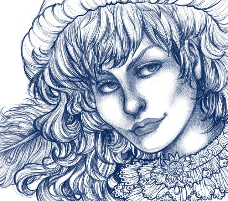 lady minstrel sketch