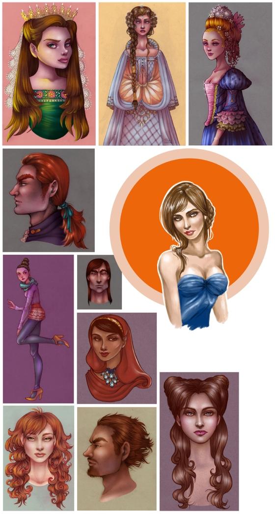 colored sketchdump portrait