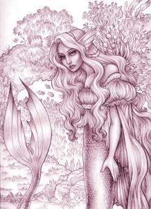 Mermaid II - sketch | Pencil & Digital, 2014