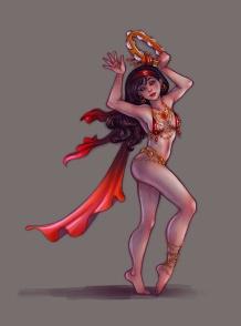 Tambourine Dancer concept   Digital & Pencil, 2014