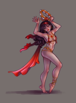Tambourine Dancer concept | Digital & Pencil, 2014