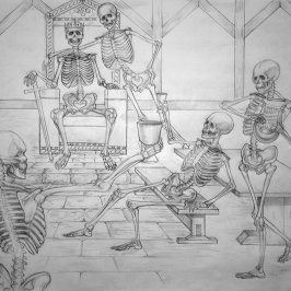 Skeleton Toast | Pencil, 2014