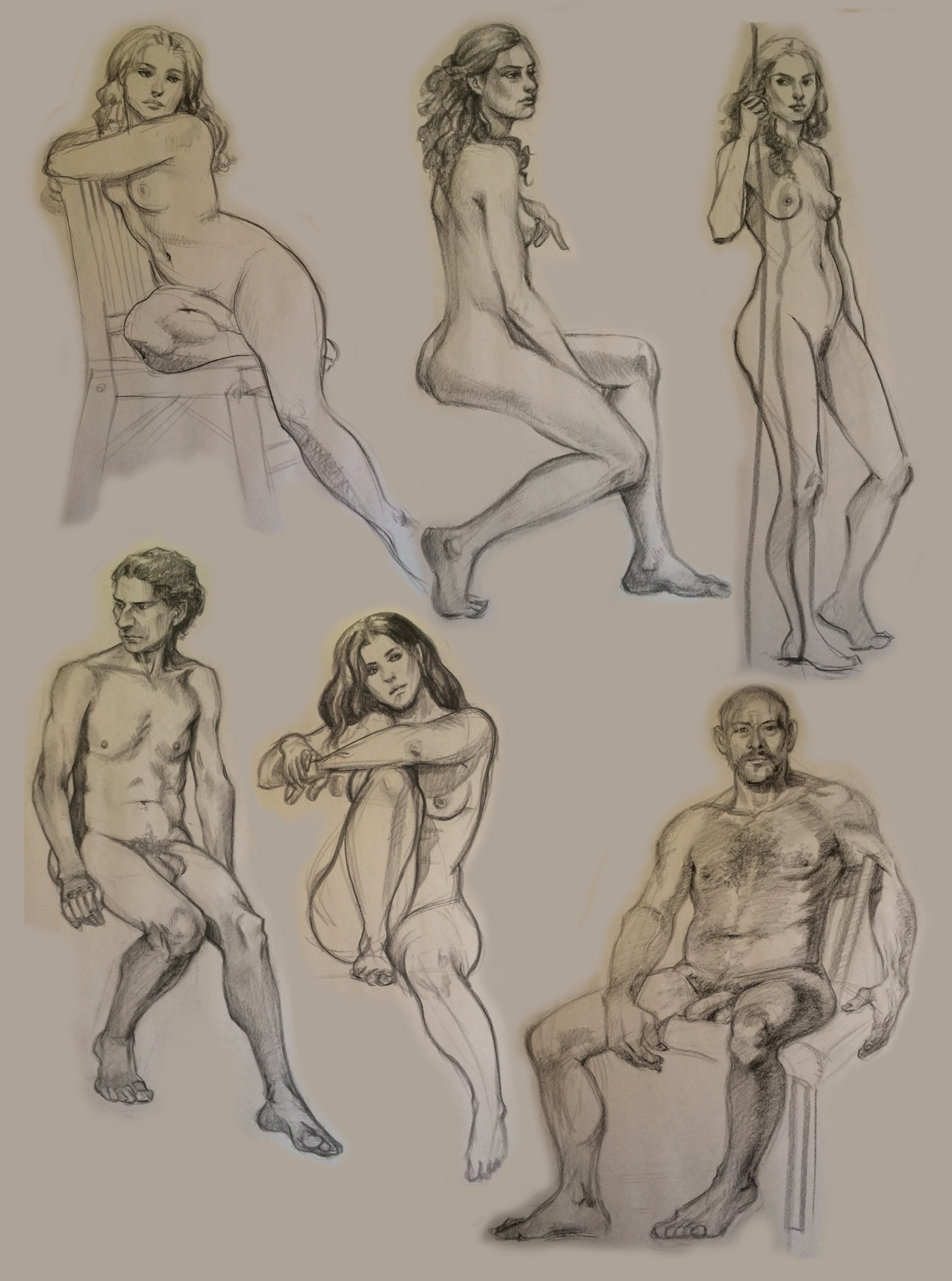 some figure drawing | Courtney Trowbridge