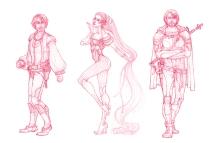 Baring Project - character concepts   Pencil, 2014