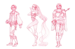 Baring Project - character concepts | Pencil, 2014