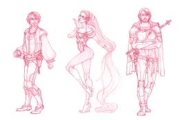 Baring Project - character concepts | Pencil, 2014