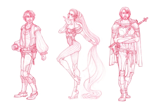 Character sketches100dpi