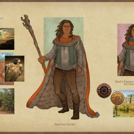 Earthsea - Ged Hunter costume concepts | Digital, 2015