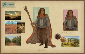 Earthsea - Ged Hunter costume concepts