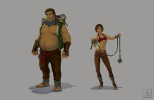 Baring Project - Dusthaven characters   Digital, 2015