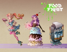 Food FIght game characters   Pencil & Digital, 2014