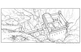 Tintagel - line drawing   Digital, 2015