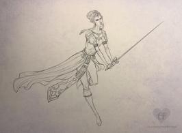 Zelda - line art   Digital, 2015