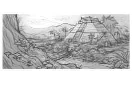 Ziggurat Rough Sketch | Digital, 2015