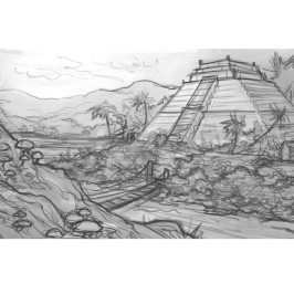 Ziggurat Rough Sketch | Digital, 2015