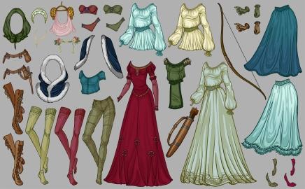 Maid Marian - costume flats