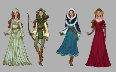 Maid Marian - costumes concepts