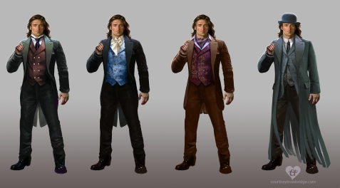 Mistborn Wax costume concepts