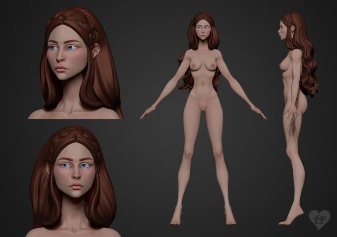 Maid Marian 3D model