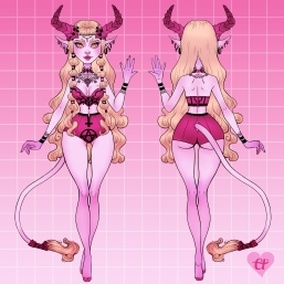Belladonna Demon Girl - ortho